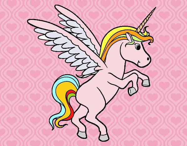 Dibujo Unicornio joven pintado por jhaslitpms