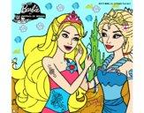 Barbie se despiede de la reina sirena