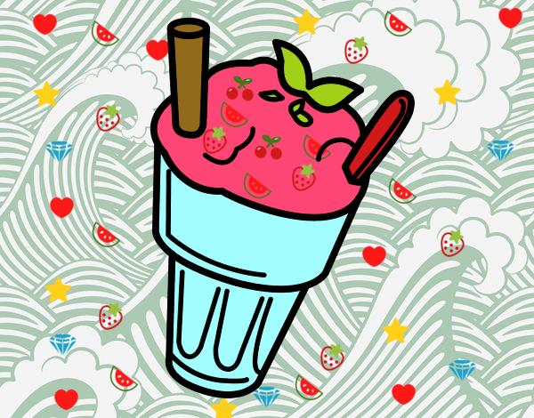 helado de fresa que ricoooooo