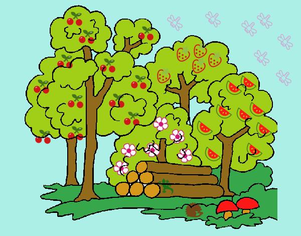 Dibujo Bosque 2 pintado por jhaslitpms