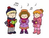Dibujo Cantantes navideños pintado por AgusNet