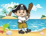 Dibujo Disfraz de pirata pintado por LosPrimos6