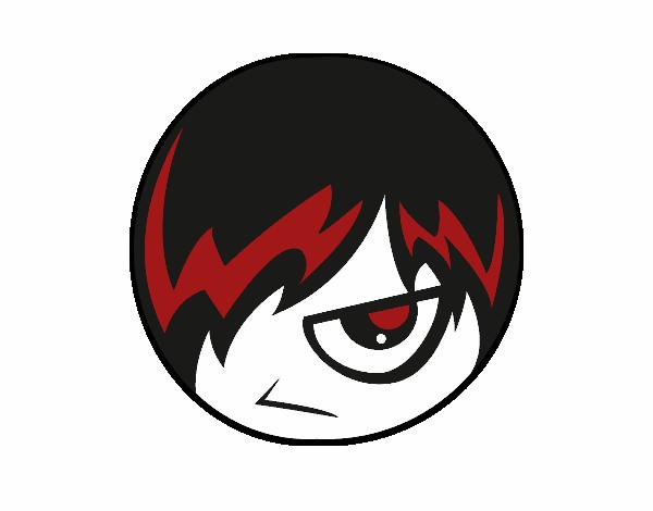 Dibujo Emoticono Emo pintado por sarada