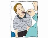 Examen de garganta