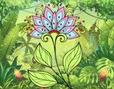 Dibujo Flor decorativa pintado por hermasa