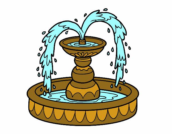 Dibujo Fuente pintado por sarada