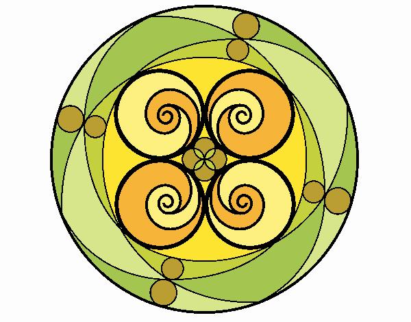 Dibujo Mandala 5 pintado por MYRNA1938