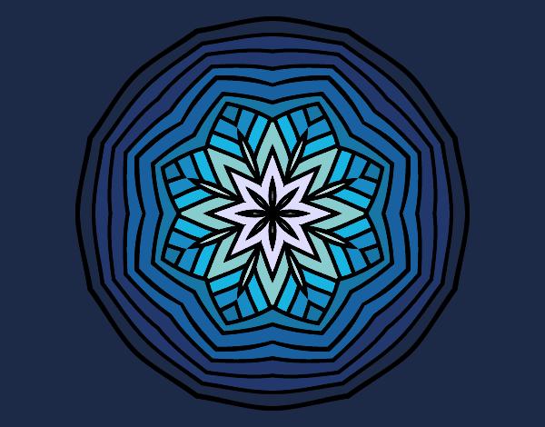 Dibujo Mandala cenital pintado por MYRNA1938