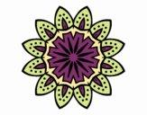 Dibujo Mandala con pétalos pintado por MYRNA1938