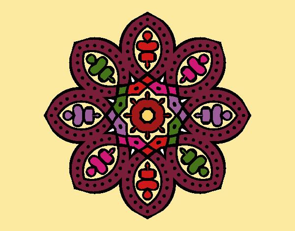 Dibujo Mandala de inspiración árabe pintado por MYRNA1938