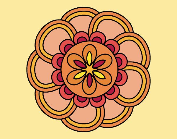 Dibujo Mandala de pétalos pintado por MYRNA1938