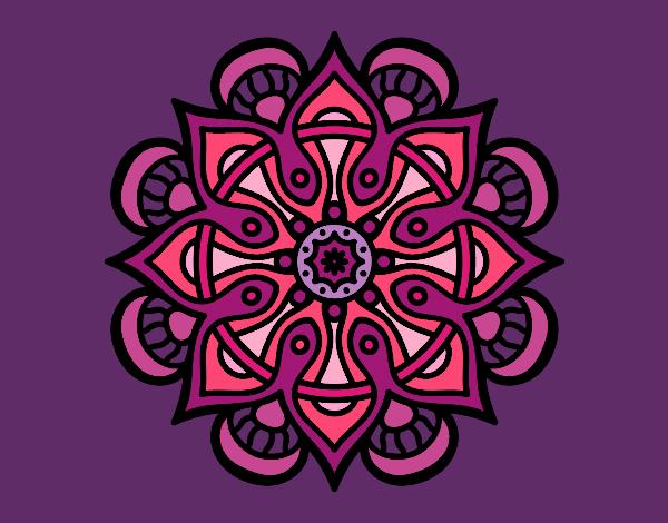 Dibujo Mandala mundo árabe pintado por MYRNA1938