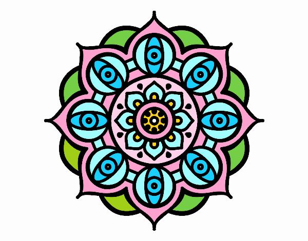Mandala ojos abiertos