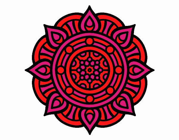 Dibujo Mandala puntos de fuego pintado por MYRNA1938