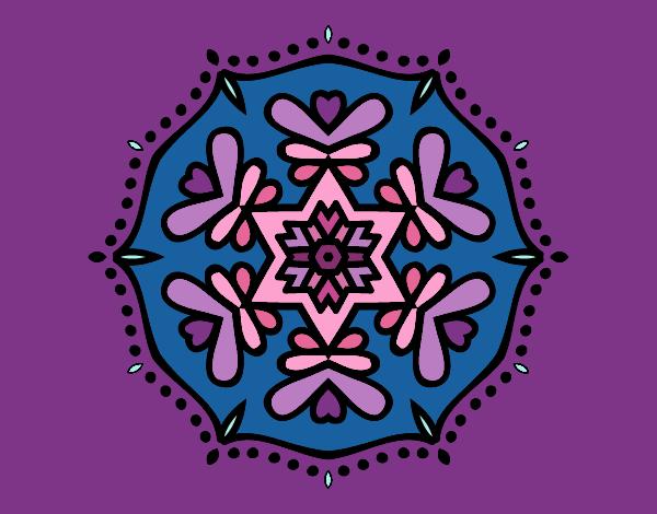 Dibujo Mandala simétrica pintado por MYRNA1938