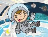 Dibujo Niño astronauta pintado por LosPrimos6
