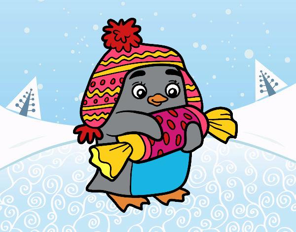 Dibujo Pingüino con caramelo pintado por jhaslitpms
