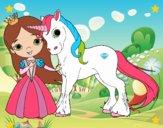 Dibujo Princesa y unicornio pintado por Nahomi_z