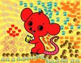 Dibujo Ratón bebé pintado por ronquillo