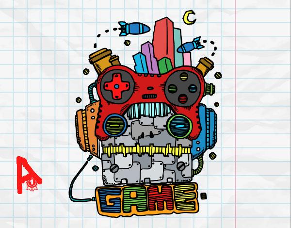 Dibujo Robot game pintado por LosPrimos6
