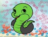 Dibujo Serpiente bebé pintado por ronquillo