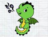 Dibujo Un dragón bebé pintado por LosPrimos6