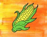 Dibujo Una mazorca de maíz pintado por cuarzoazul