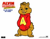 Dibujo Alvin de Alvin y las Ardillas pintado por dipperdibu