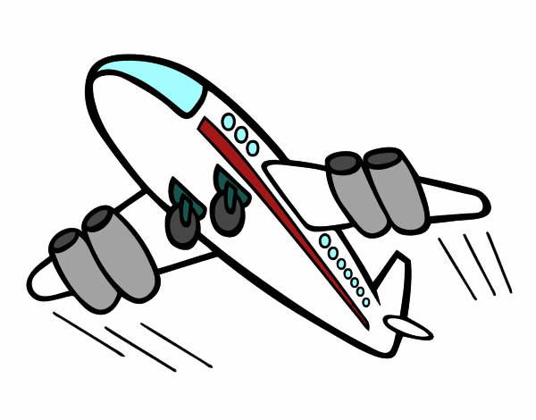 Dibujo Avión rápido pintado por albabm24