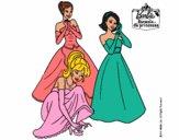 Barbie y sus amigas vestidas de gala