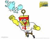 Dibujo Bob Esponja - La burbuja invencible al ataque pintado por dipperdibu