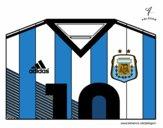 Camiseta del mundial de fútbol 2014 de Argentina