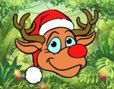 Dibujo Cara de reno Rudolph pintado por ESTEYSIFLO