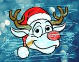 Cara de reno Rudolph
