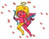 Cupido con su arco mágico