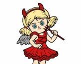 Dibujo Disfraz de diablesa pintado por AgusNet