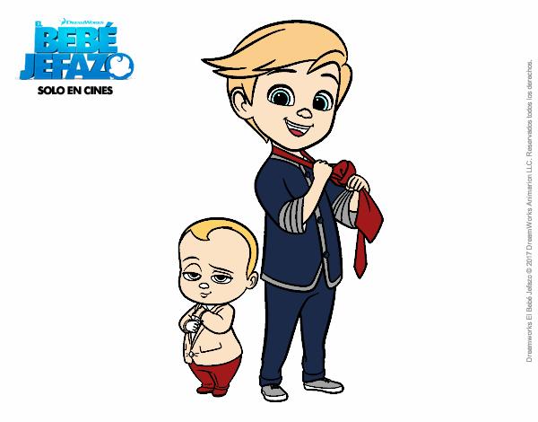 Dibujo El Bebé Jefazo y Tim Templeton pintado por AgusNet