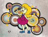 Dibujo Estrella del pop cantando pintado por Natalia-