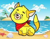 Dibujo Gato con bandana pintado por dipperdibu