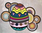 Dibujo Huevo de Pascua para decorar pintado por Natalia-