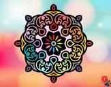Dibujo Mandala nube pintado por cuyito