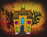 Mansión encantada de Halloween