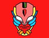 Dibujo Máscara de supervillano pintado por rakeljoel
