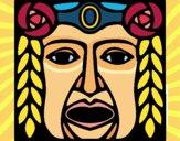 Dibujo Máscara Maya pintado por CLEONEFER