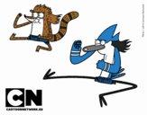 Mordecai y Rigby karatekas