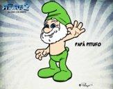 Dibujo Papá Pitufo pintado por Xime1252