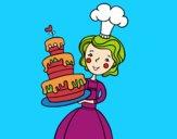 Dibujo Tarta de cumpleaños casera pintado por Francesita
