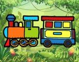 Dibujo Tren alegre pintado por lorenzo007