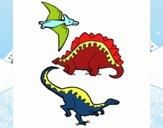Tres clases de dinosaurios