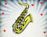 Un saxofón
